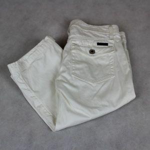 Anthro Sanctruary Flap Pocket Close Fit Capris